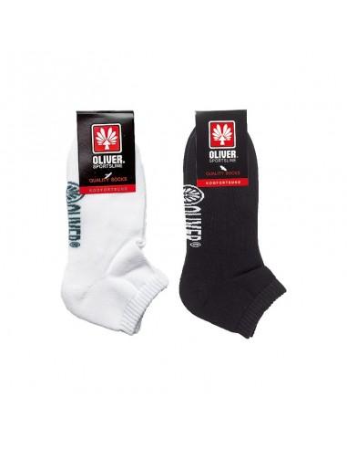 Socquettes noires et socquettes blanches OLIVER