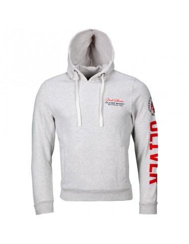 """sweat capuche """"authentic"""" blanc avec logo"""